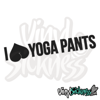 I Heart Yoga Pants Jdm Sticker / Decal
