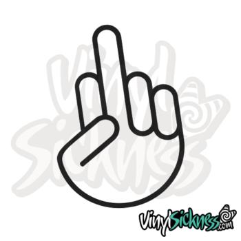 Jdm Middle Finger Sticker / Decal
