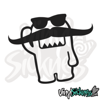 Long Mustache Domo Jdm Sticker / Decal
