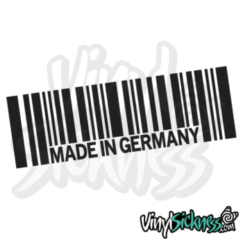Made In Germany Barcode Jdm Sticker / Decal