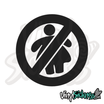 No Fat Chicks Symbol Jdm Sticker / Decal