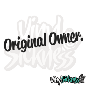 Original Owner Jdm Sticker / Decal
