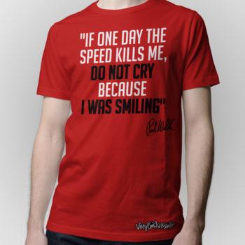 Rip Paul Walker Tribute Red Jdm Tuner Shirt