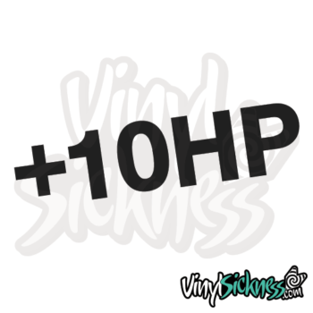 Plus 10hp Jdm Sticker / Decal