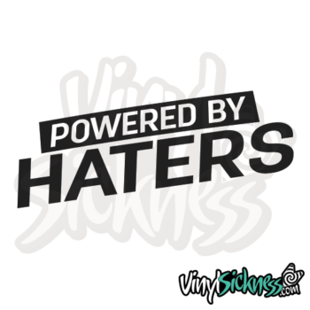 Powered By Haters V2 Jdm Sticker / Decal