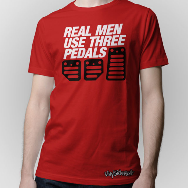 Real Men Use Three Pedals Red Shirt