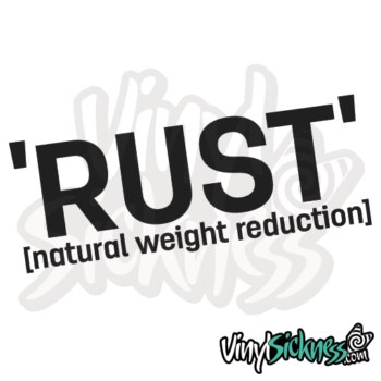 Rust Natural Weight Reduction Jdm Sticker / Decal