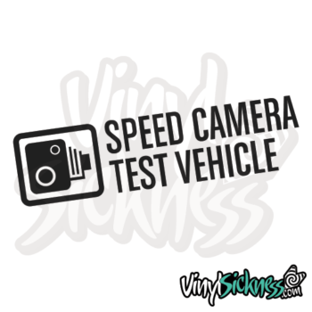 Speed Camera Test Vehicle Jdm Sticker / Decal