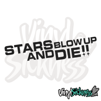 Stars Blow Up Jdm Sticker / Decal