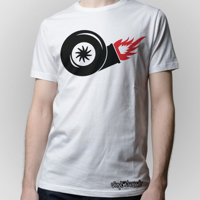 Turbo On Fire White Shirt