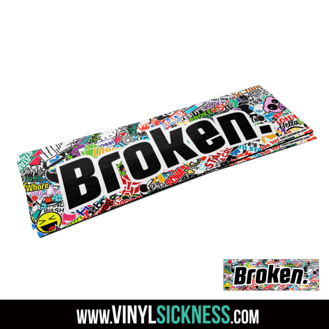 Jdm Tuner Premium Broken Slap Sticker