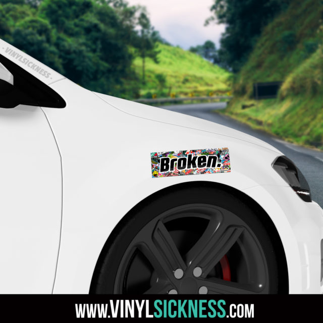 Jdm Tuner Premium Broken Slap Sticker Fender