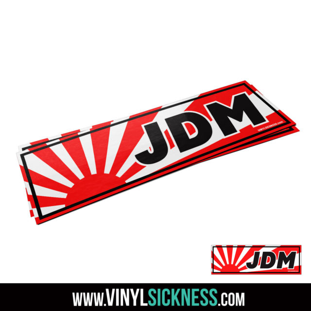 Jdm Tuner Premium Jdm Rising Sun Slap Sticker