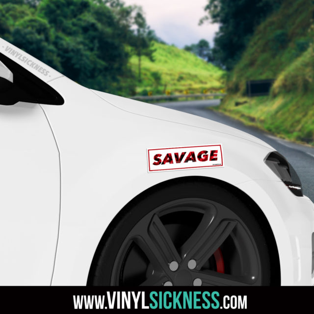 Jdm Tuner Premium Savage Slap Sticker Fender