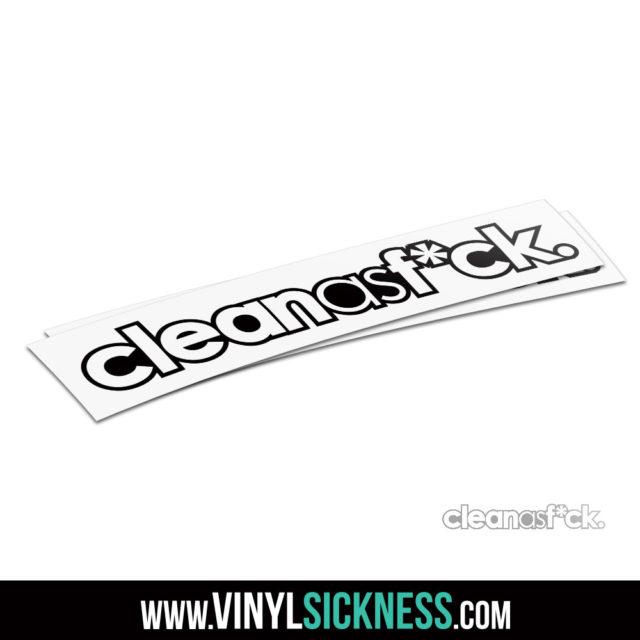 Clean As Fuck Jdm Sticker Decal