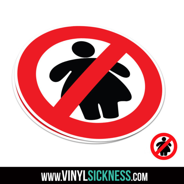 No Fat Chicks Badge Jdm Sticker Decal