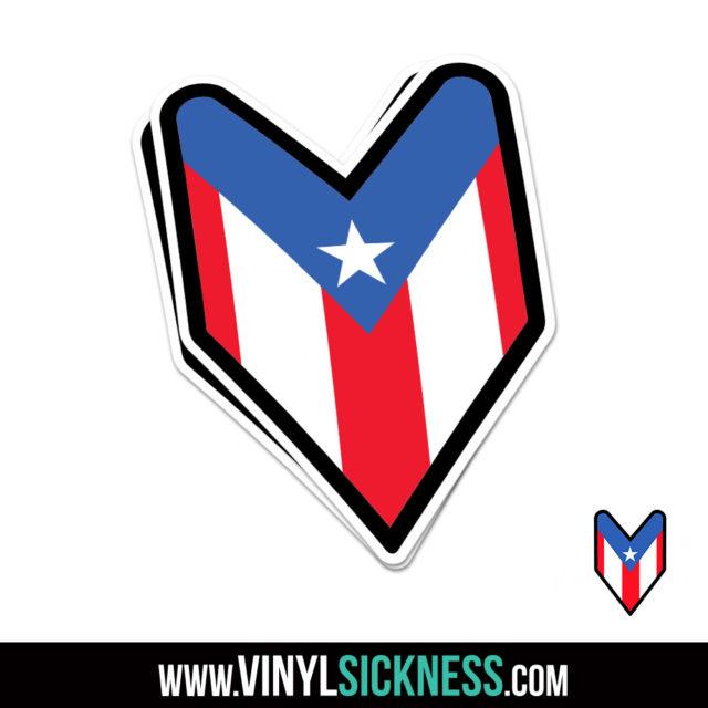 Puerto Rico Wakaba Jdm Sticker Decal