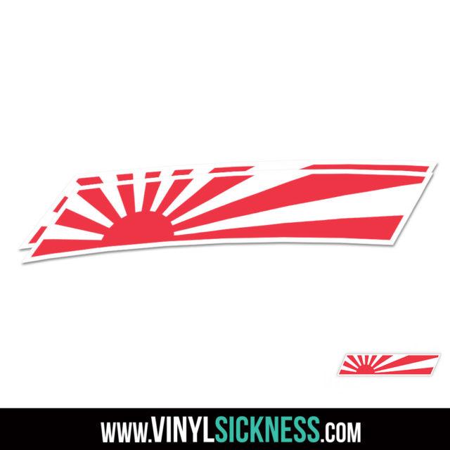 Rising Sun Badge Jdm Sticker Decal