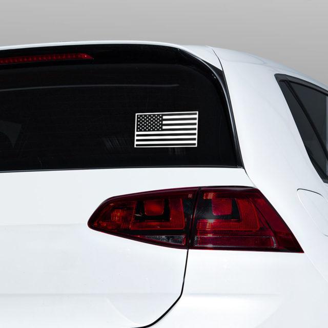 Usa Flag Black And White Window Jdm Sticker Decal
