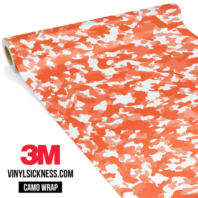 Apricot Camo Small Vinyl Wrap Main
