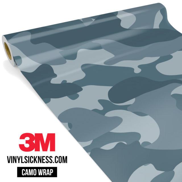Blue Iris Camo Large Vinyl Wrap Main