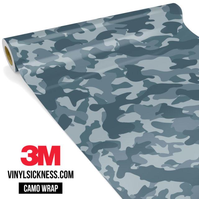 Blue Iris Camo Regular Vinyl Wrap Main