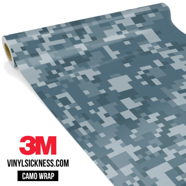 Blue Iris Digital Camo Regular Vinyl Wrap Main