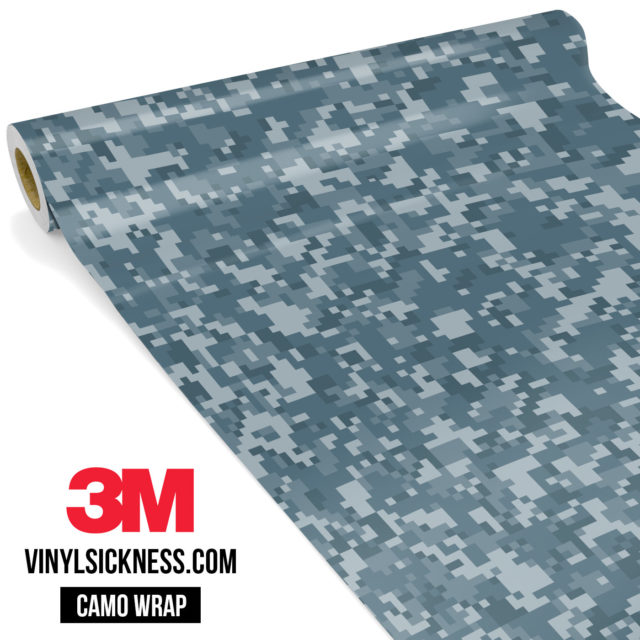 Blue Iris Digital Camo Small Vinyl Wrap Main