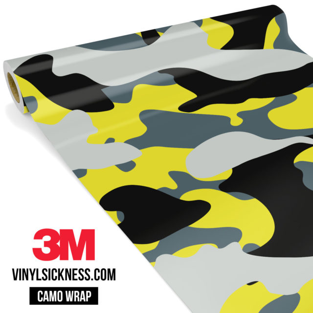 Canary Steel Camo Large Vinyl Wrap Main