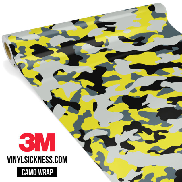 Canary Steel Camo Regular Vinyl Wrap Main