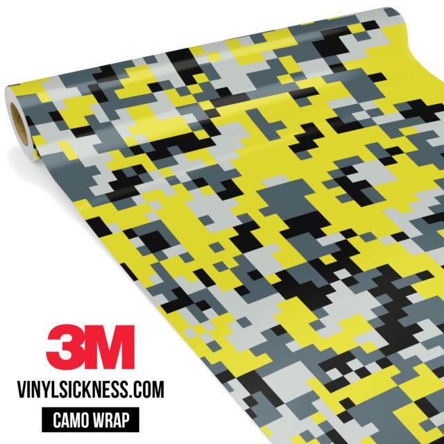 Canary Steel Digital Camo Regular Vinyl Wrap Main