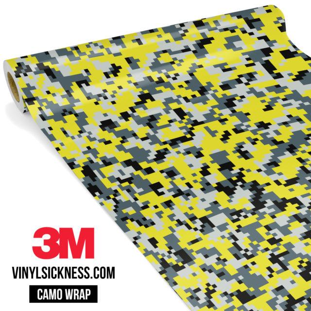 Canary Steel Digital Camo Small Vinyl Wrap Main