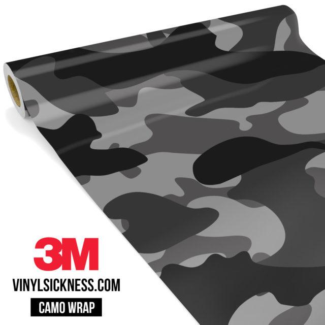 Charcoal Smoke Camo Large Vinyl Wrap Main