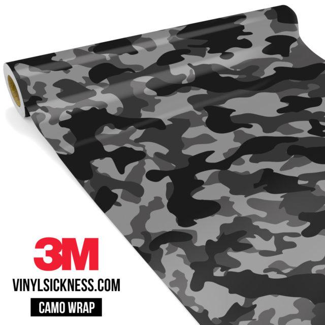 Charcoal Smoke Camo Regular Vinyl Wrap Main