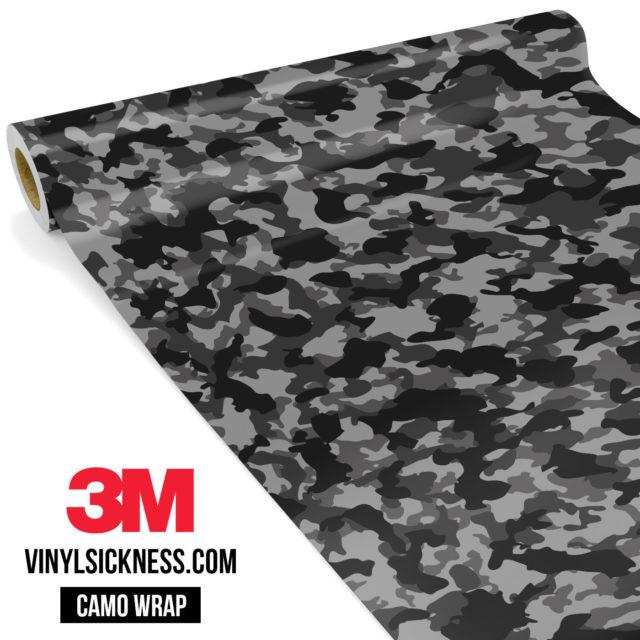 Charcoal Smoke Camo Small Vinyl Wrap Main