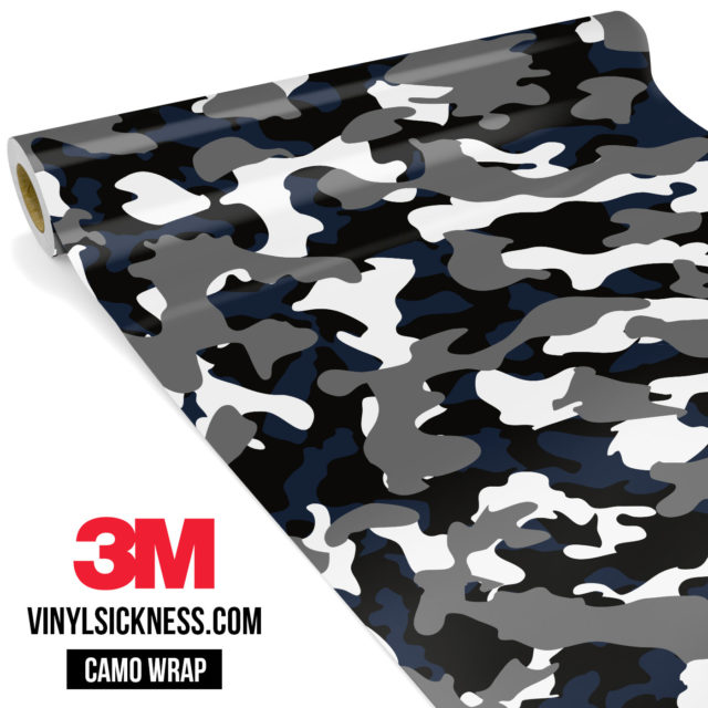 Deep French Navy Camo Regular Vinyl Wrap Main
