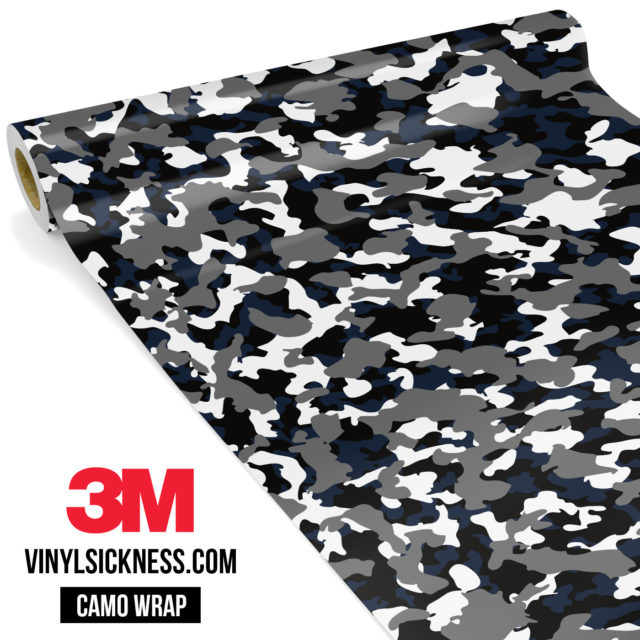 Deep French Navy Camo Small Vinyl Wrap Main