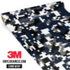 Deep French Navy Digital Camo Regular Vinyl Wrap Main