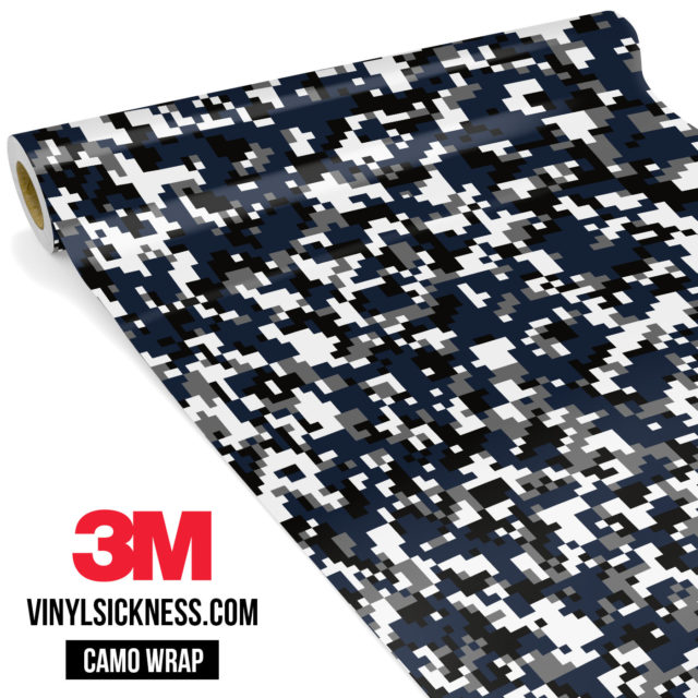Deep French Navy Digital Camo Small Vinyl Wrap Main