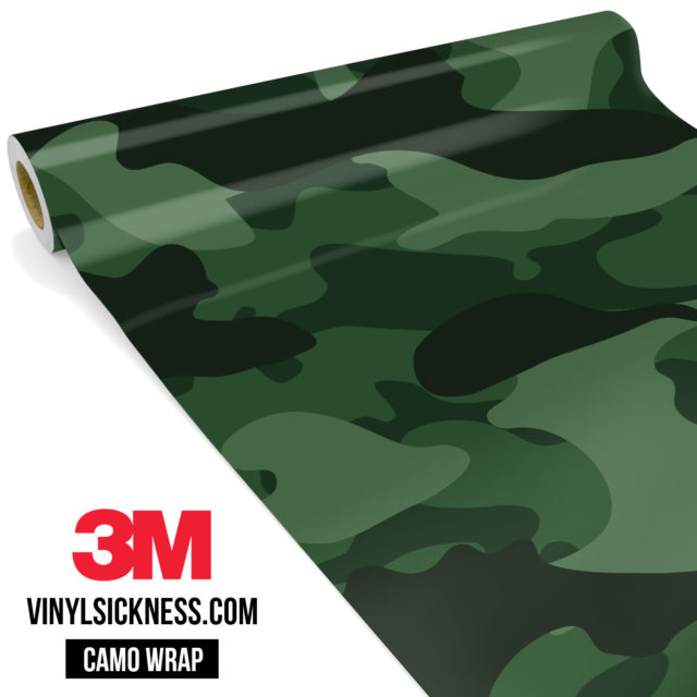 Deep Green Camo Large Vinyl Wrap Main