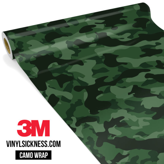 Deep Green Camo Regular Vinyl Wrap Main
