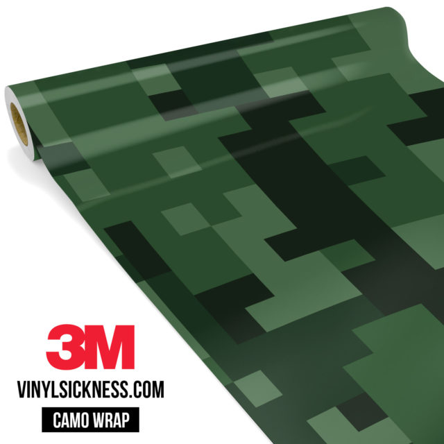 Deep Green Digital Camo Large Vinyl Wrap Main