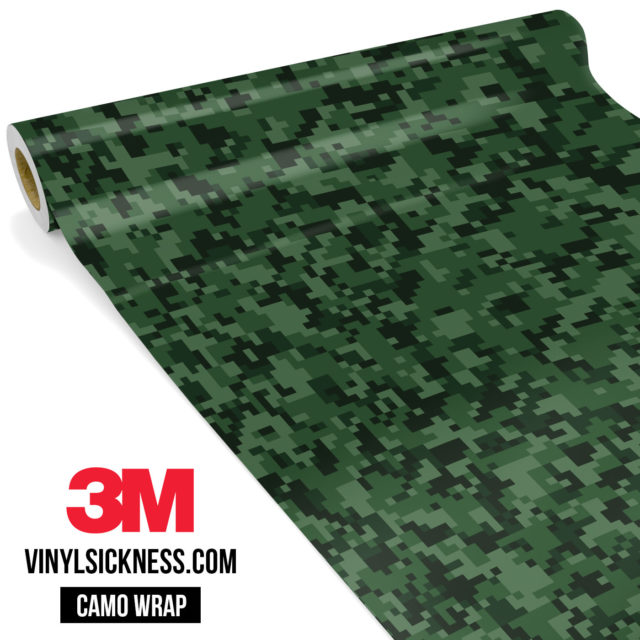 Deep Green Digital Camo Small Vinyl Wrap Main