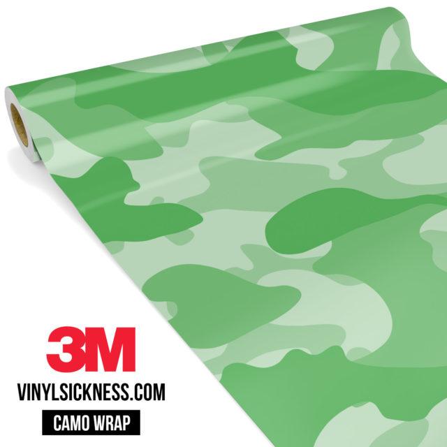Emerald Green Camo Large Vinyl Wrap Main