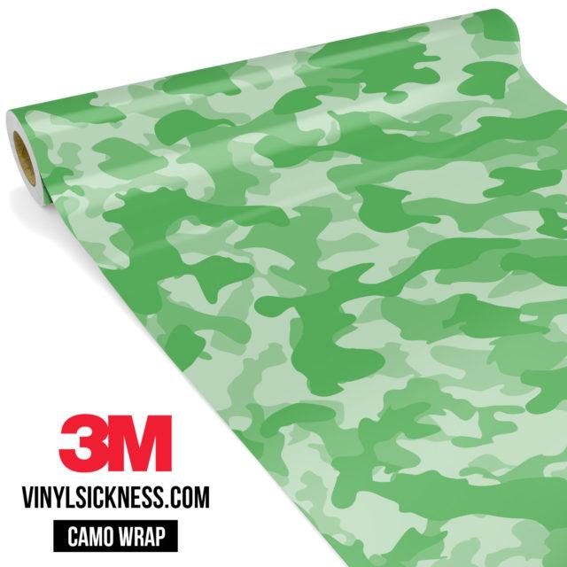 Emerald Green Camo Regular Vinyl Wrap Main