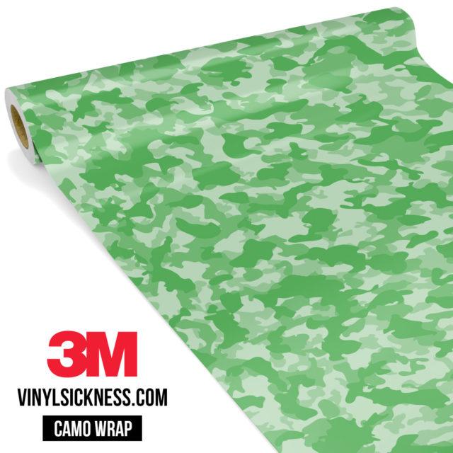 Emerald Green Camo Small Vinyl Wrap Main