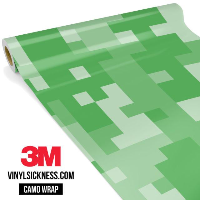 Emerald Green Digital Camo Large Vinyl Wrap Main