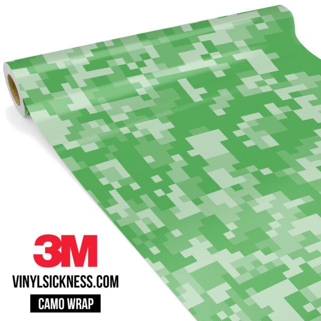 Emerald Green Digital Camo Regular Vinyl Wrap Main