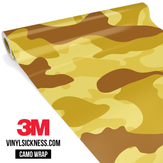 Flaxen Yellow Camo Large Vinyl Wrap Main