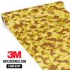 Flaxen Yellow Camo Small Vinyl Wrap Main